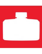 Sortiment an flüssigen Abbeizmitteln und Amoniaksteinen